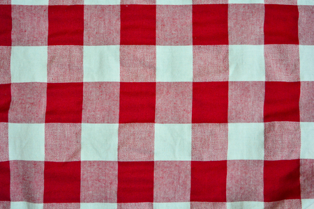 Chess cloth red and white vintage 스톡 콘텐츠