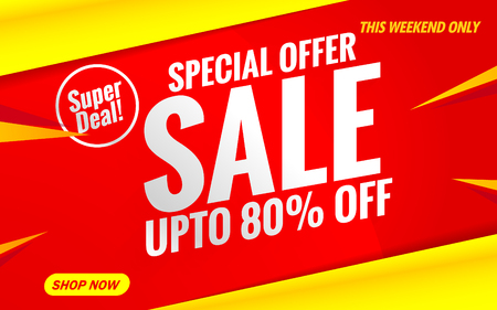 sale banner red special