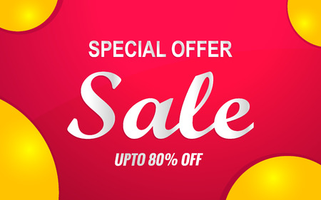 sale banner red
