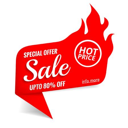 Hot sale banner 일러스트