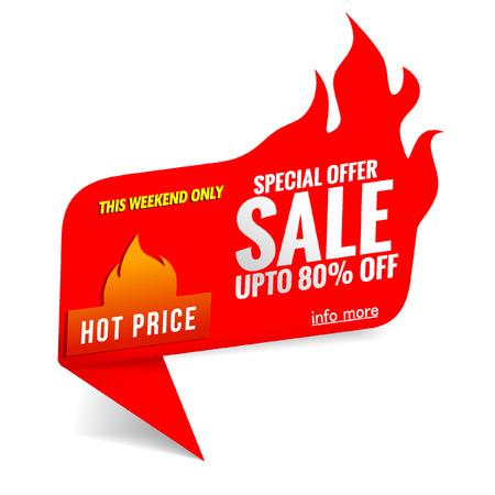 label sale hot time 일러스트