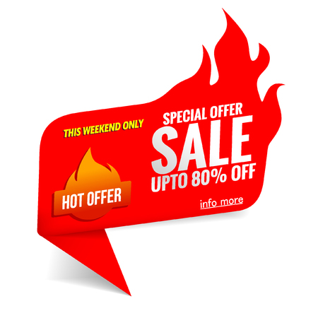 sale banner template hot price