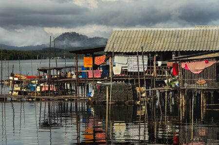 fishermans net: Fisherman Village in Phungnga Province, Thailand