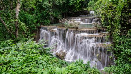 Huay Mae Kamin waterfall  at Khuean Srinagarindra National Park kanchanaburi povince , landscape Thailand
