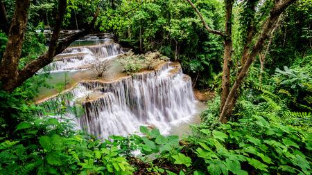 Huay Mae Kamin waterfall  at Khuean Srinagarindra National Park kanchanaburi povince , Thailand