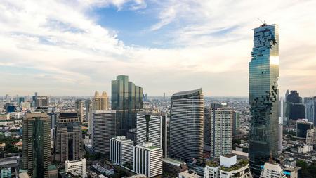 Bangkok City - Aerial view  Bangkok city downtown skyline of Thailand , Cityscape Thailand