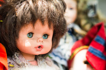 unloved: Discard old baby doll