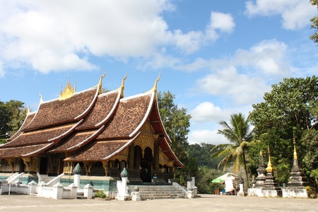 Wat chieng tongthe historical temple in Luang Pra Bang , Laos