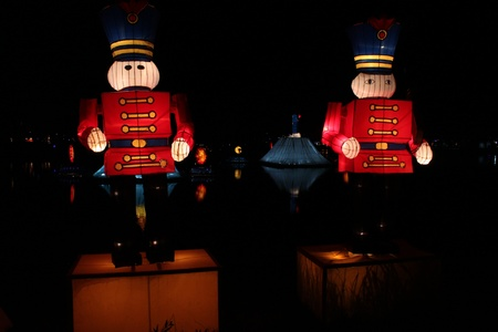 Cartoon soldier Amazing Lantern @ Hat Yai Songkha Thailand