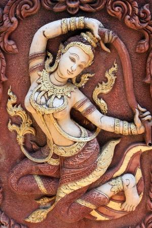 An ancient mural mortar , Thailand Stock Photo - 12182155