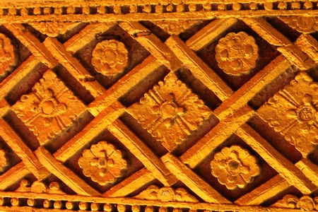 Golden Wood Carving,Traditional Thai Style in Thai Temple