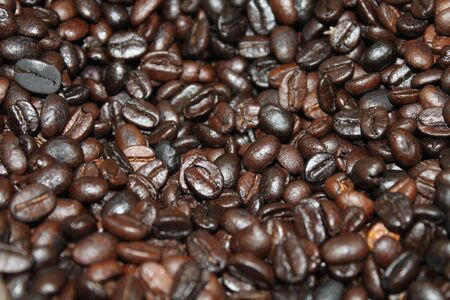 Roasted coffee beans background texture  Isometric view