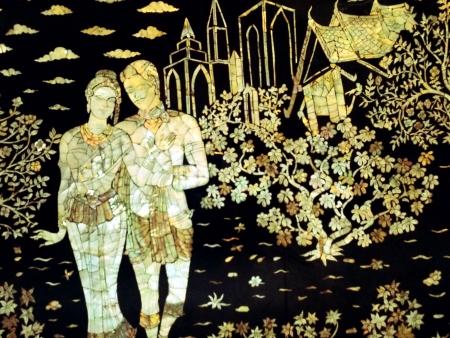 literature: Mural thai temple
