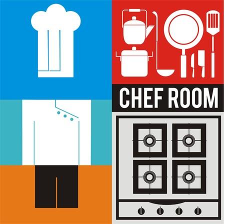 knive: chef room icon set