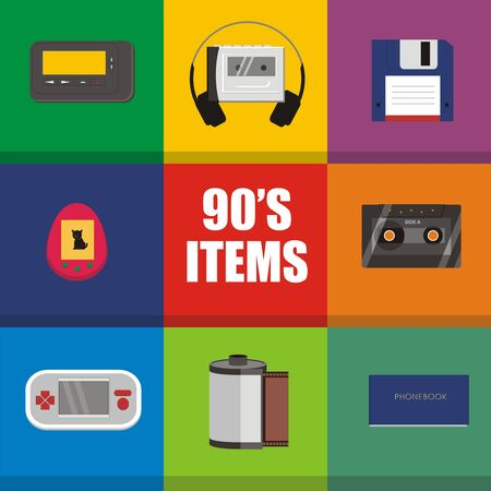 nineties: Nineties famous items