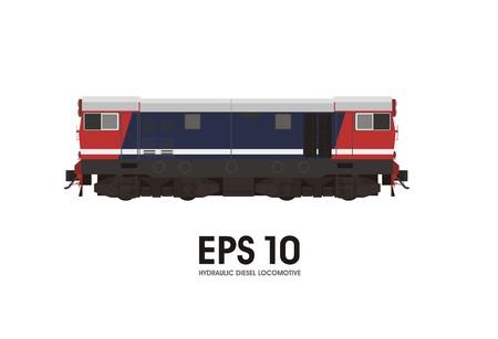 diesel: hydraulic diesel locomotive illustration