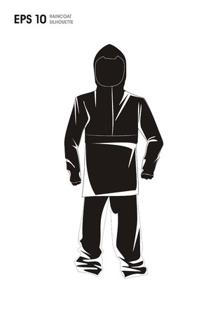 rain coat: raincoat simple silhouette illustration