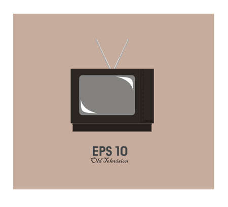 old television: old television simple illustration