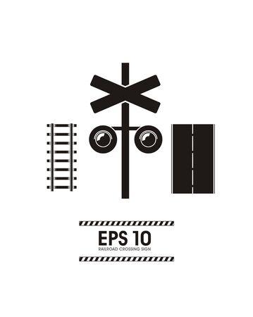 railroad crossing: railroad crossing simple illustration