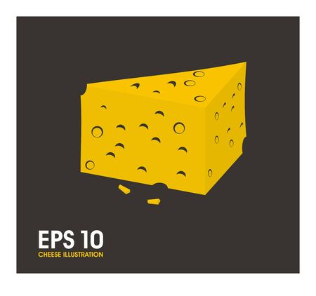 edibles: cheese slice simple illustration