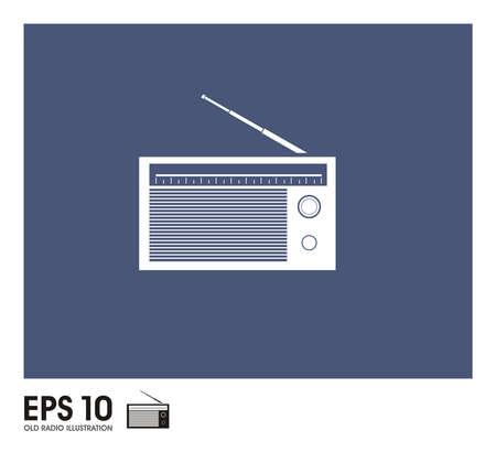old radio: old radio illustration