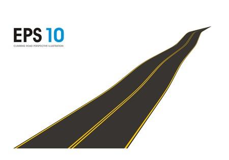 striping: climbing road illustration Illustration