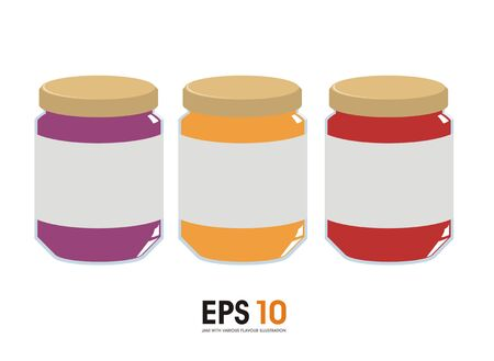 flavour: jam in various flavour Illustration