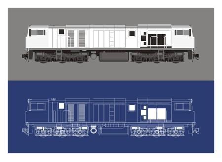 Locomotive in technical drawing art royalty free cliparts vectors 46804935 locomotive blue print art malvernweather Gallery