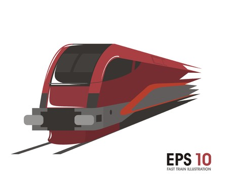 high speed train: fast train illustration