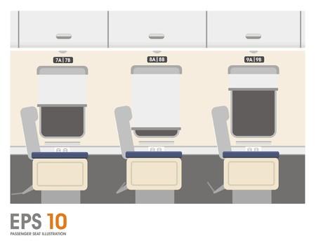recline: passenger seat simple illustration