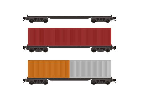 goods station: flat car simple illustration
