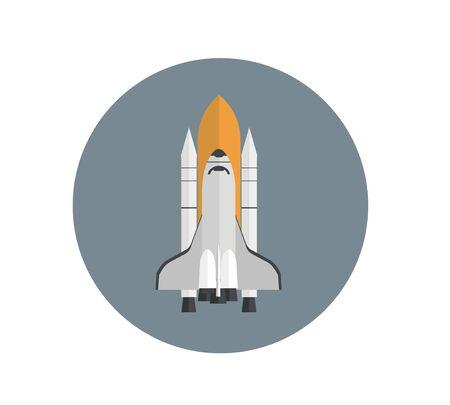 shuttle: space shuttle simple illustration Illustration