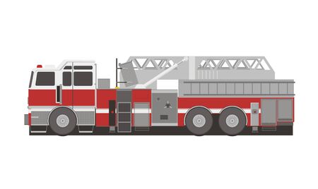 transportation cartoon: fire department truck illustration Illustration