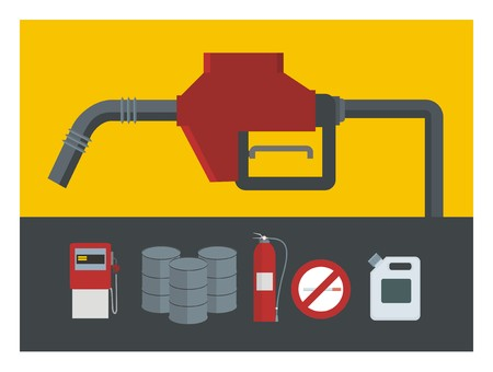 gas can: gas station illustration