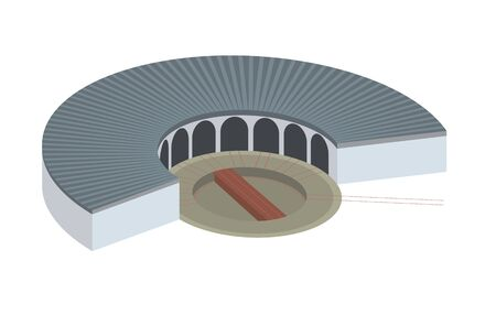 turn table: roundhouse simple illustration