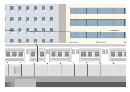 transportation facilities: city train illustration