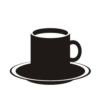 hot drink: hot drink simple silhouette