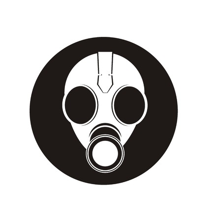 army gas mask: gas mask simple icon