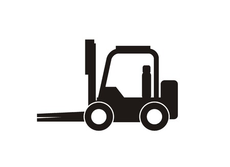 simple store: forklift simple icon Illustration