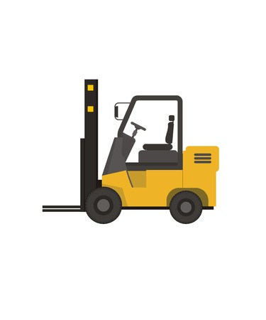 simple background: forklift simple illustration