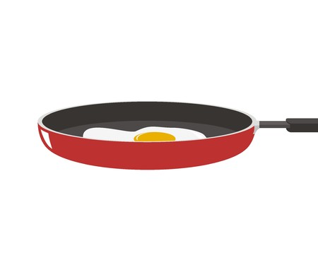 frying: fried egg on the frying pan