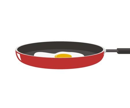 omelet: fried egg on the frying pan