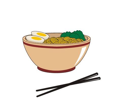 noodle: noodle in bowl illustration Illustration
