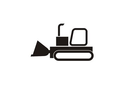 bulldoze: bulldozer simple icon