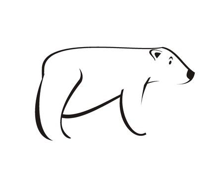 polar bear simple illustration