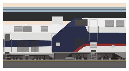 rail yard: railway station illustration