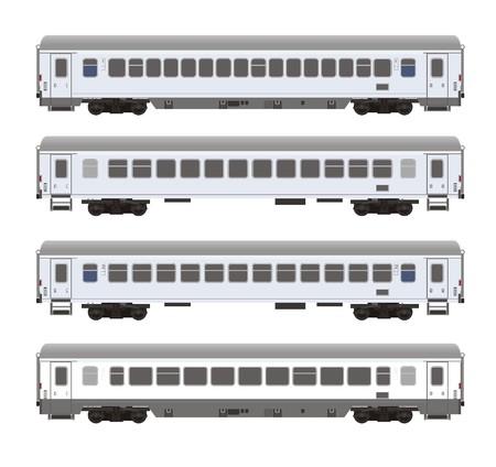 tren: entrenar coche sin rayas Vectores