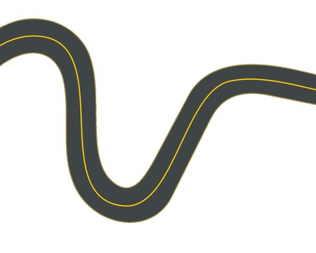 winding: winding road illustration