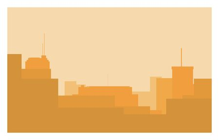 roof: city simple silhouette Illustration