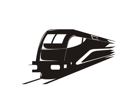 transportation facilities: fast train silhouette